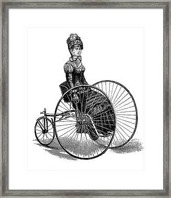 19th Century Ladies Handcar Framed Print