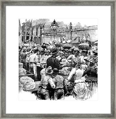 19th Century Market Framed Print by Collection Abecasis