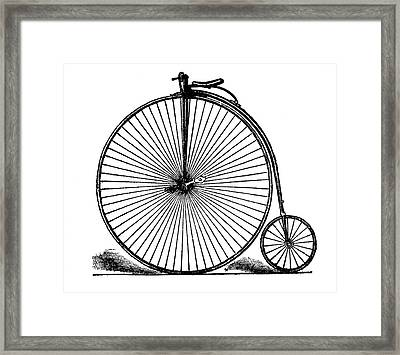 19th Century Penny-farthing Framed Print by Bildagentur-online/tschanz