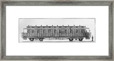 19th Century Railway Wagon Framed Print by Cci Archives