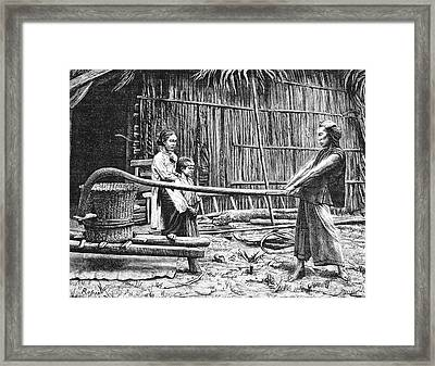 19th Century Rice Mill Framed Print by Collection Abecasis