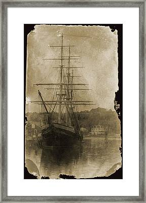 19th Century Schooner Framed Print