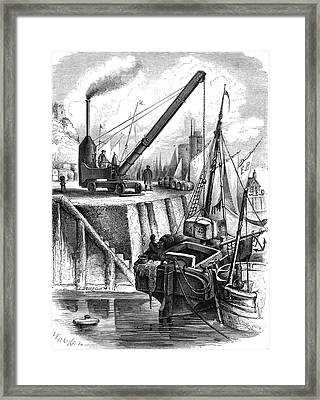 19th Century Steam Crane Framed Print