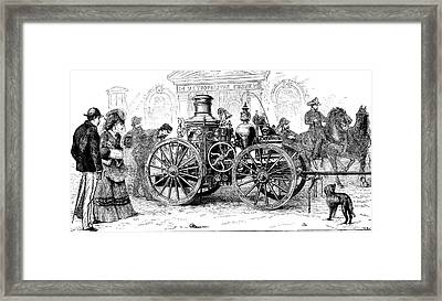19th Century Steam Fire Pump Framed Print by Collection Abecasis