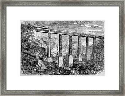 19th Century Swiss Rail Bridge Framed Print by Cci Archives