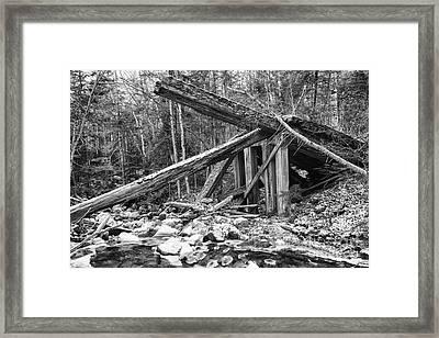 19th Century Timber Bridge - Boston And Maine Railroad New Hampshire Usa Framed Print by Erin Paul Donovan