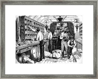 19th Century Travelling Post Office Framed Print
