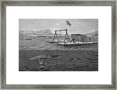 19th Century Underwater Shooting Attempt Framed Print by Bildagentur-online/tschanz