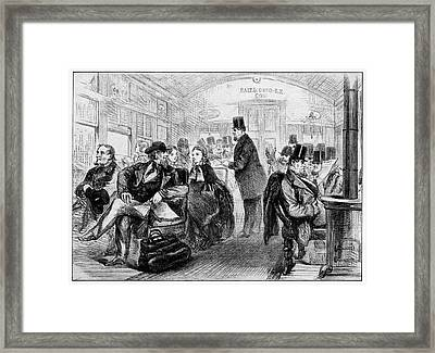 19th Century Usa Train Travel Framed Print by Cci Archives