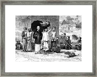19th Century Vietnamese Market Framed Print by Collection Abecasis