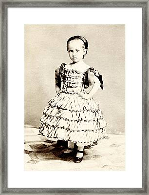 1865 Defiant American Girl Framed Print by Historic Image