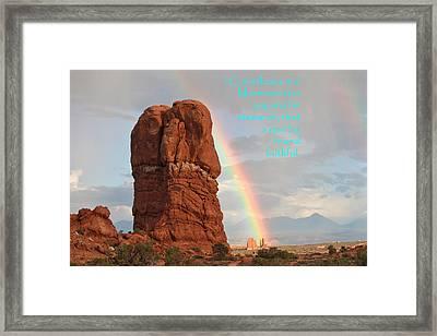 Arches 1 Cor 4-2 Framed Print