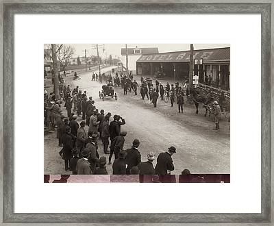 1st American Fifty-mile Automobile Race Framed Print by Science Photo Library