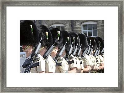1st Battalion Welsh Guards On The Drill Framed Print