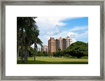 1st Hole At Granada Golf Course Framed Print