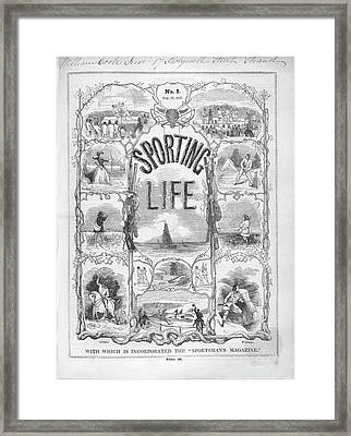 1st Issue Of Sporting Life Magazine Framed Print by British Library