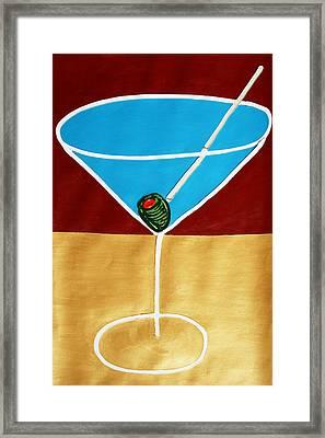 1st Martini Framed Print by Matthew Brzostoski