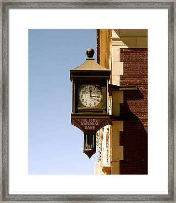 1st National Bank Framed Print