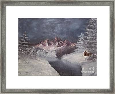 1st Painting 2-27-1991 Framed Print by Rhonda Lee