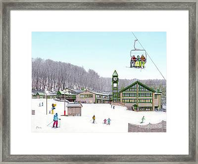1st Snow At Hidden Valley Framed Print by Albert Puskaric