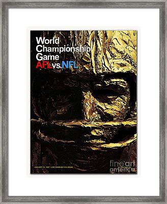 1st Super Bowl Program Cover Framed Print
