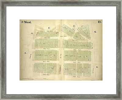 1st Ward. Plate B Map Bounded By Stone Street, Beaver Framed Print by Litz Collection