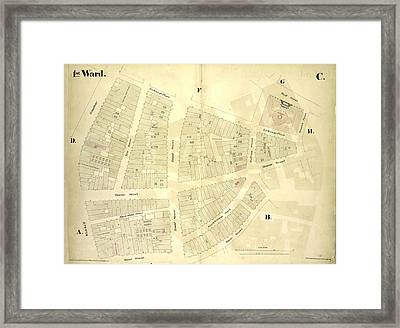 1st Ward. Plate C Map Bounded By Exchange Place, William Framed Print by Litz Collection