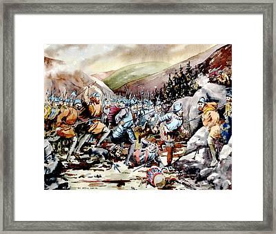 Battle Of Glenmalure  1580  Wicklow Framed Print by Val Byrne