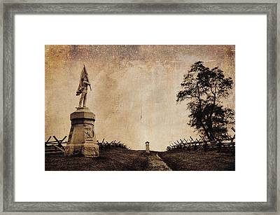 Bloody Lane Aka The Sunken Road Framed Print