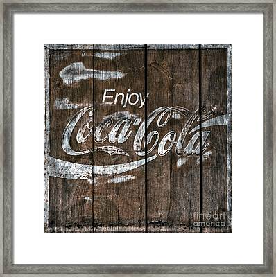 Coca Cola Sign Barn Wood Framed Print by John Stephens