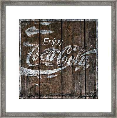 Coca Cola Sign Barn Wood Framed Print by John Stephens