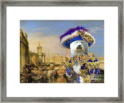 Coton De Tulear Art Canvas Print Framed Print by Sandra Sij