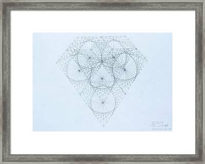 Diamond Quanta Framed Print