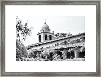 Facade Of The Chapel Mission San Carlos Borromeo De Carmelo Framed Print by Ken Wolter