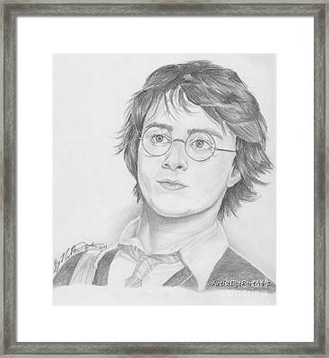 Harry Potter Framed Print by Nathaniel Bostrom