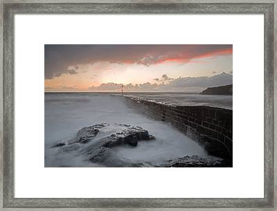 Porthleven In Cornwall Framed Print