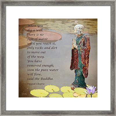 ... Said The Buddha Framed Print