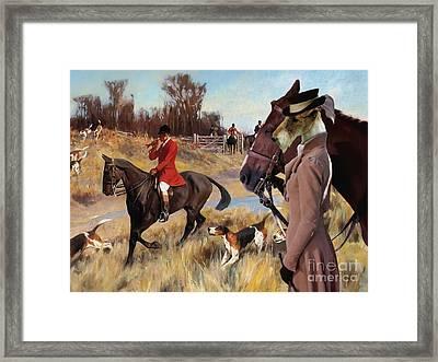 Wire Fox Terrier Art Canvas Print Framed Print by Sandra Sij