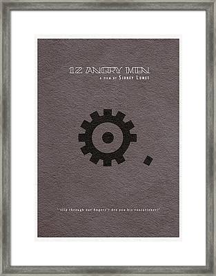 12 Angry Men Framed Print by Ayse Deniz