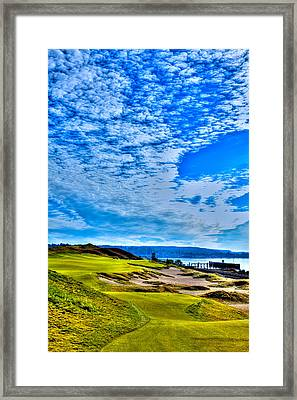 #16 At Chambers Bay Golf Course - Location Of The 2015 U.s. Open Championship Framed Print by David Patterson