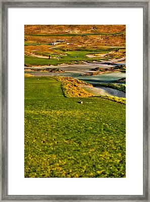 #18 At Chambers Bay Golf Course - Location Of The 2015 U.s. Open Tournament Framed Print