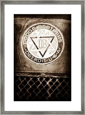 1923 Dodge Brothers Depot Hack Emblem Framed Print by Jill Reger