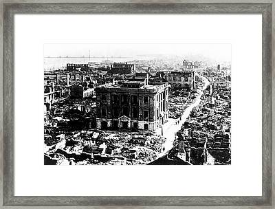 1923 Great Kanto Earthquake Framed Print by Us Geological Survey