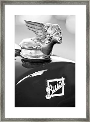 1928 Buick Custom Speedster Hood Ornament Framed Print by Jill Reger