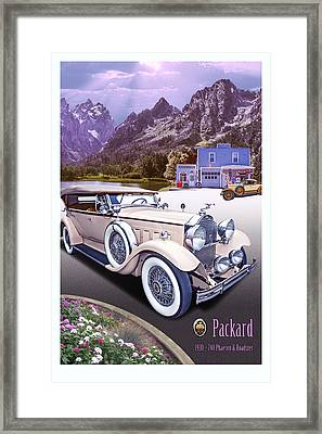 1930 Packard 740 Phaeton  Framed Print by Ed Dooley