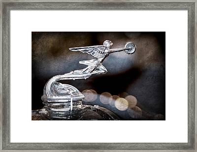 Framed Print featuring the photograph 1930 Packard Model 733 Convertible Coupe Hood Ornament by Jill Reger