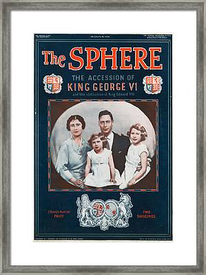 1930s Uk The Sphere Magazine Cover Framed Print by The Advertising Archives