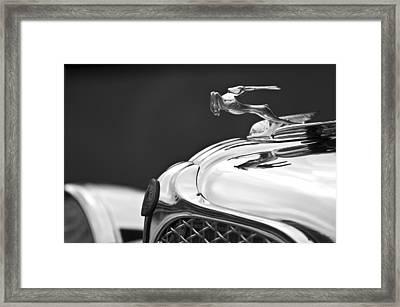 1931 Chrysler Cg Imperial Roadster Hood Ornament Framed Print by Jill Reger