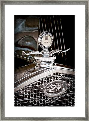 1931 Model A Ford Deluxe Roadster Hood Ornament Framed Print