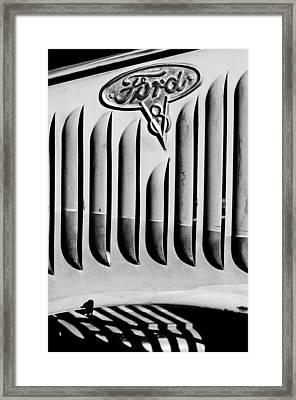 1935 Ford Emblem Framed Print by Jill Reger